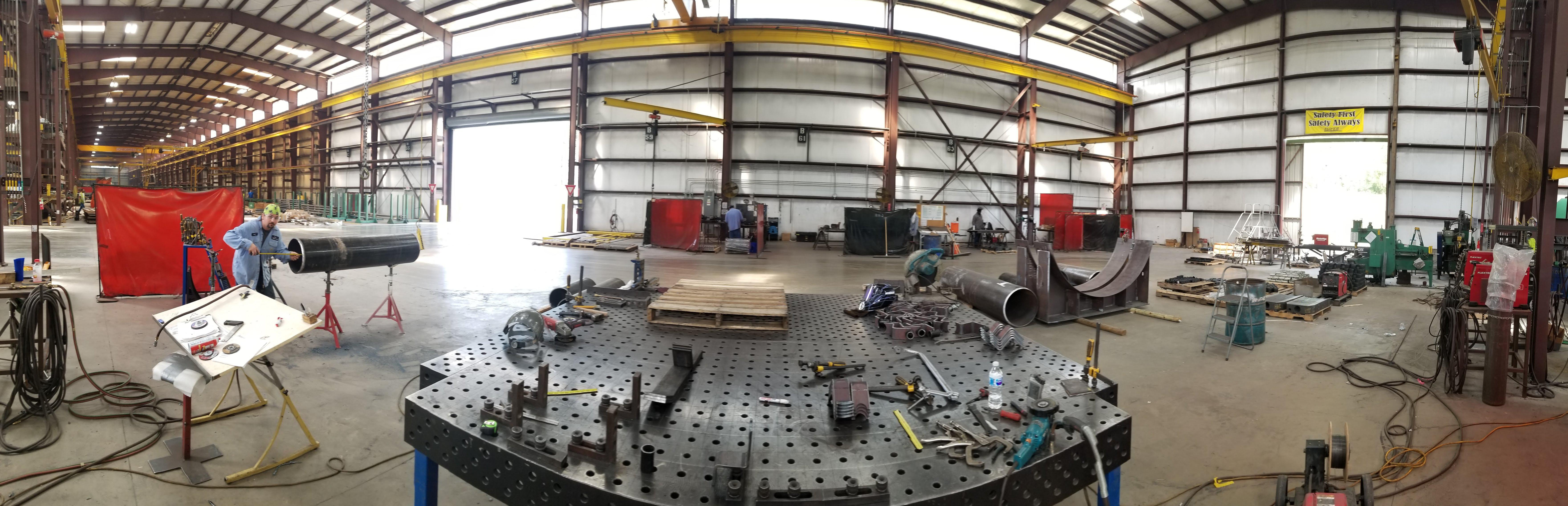 Facility, Hayes Manufacturing, Pineville, Louisiana, Metal-Working Equipment, Highest Quality Products, CNC Plasma Cutting, Machining, Blasting, Painting